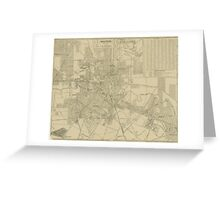 Vintage Map of Downtown Houston (1913) Greeting Card
