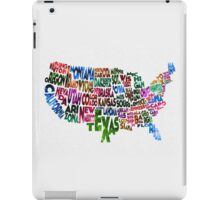 States of United States Typographic Map iPad Case/Skin