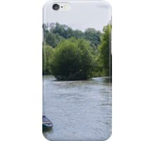 boat on the river iPhone Case/Skin