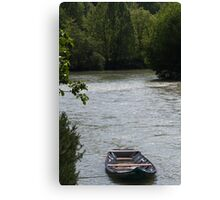 boat on the river Canvas Print