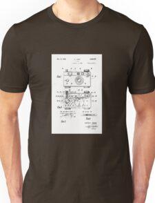 "Argus C-3 ""The Brick"" Vintage 35mm Film Camera Patent Drawing Unisex T-Shirt"