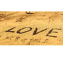 Love on sand Photographic Print