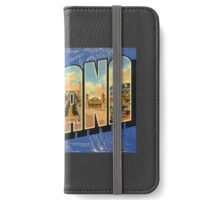 Souvenir from Havana, Cuba Vintage/Retro Travel Postcard  iPhone Wallet/Case/Skin