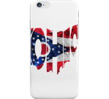 Ohio Typographic Map Flag iPhone Case/Skin