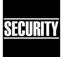Security (white) Photographic Print