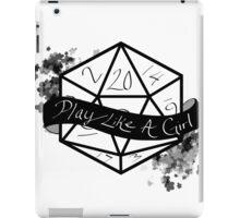 Play Like A Girl - Black iPad Case/Skin