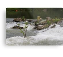 river and waterfall Metal Print