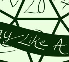 Play Like A Girl - Green Sticker