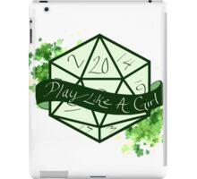Play Like A Girl - Green iPad Case/Skin
