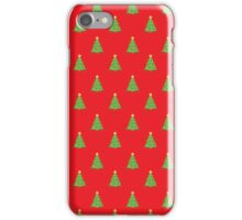 Red Green Christmas Tree Pattern  iPhone Case/Skin
