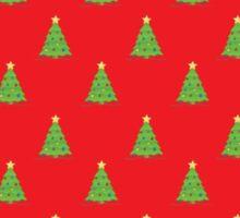 Red Green Christmas Tree Pattern  Sticker