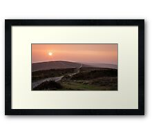 The road to Cefn Bryn, Gower Framed Print