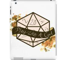 Play Like A Girl - Orange iPad Case/Skin