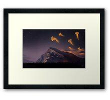 Space travelers Framed Print