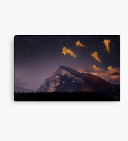 Space travelers Canvas Print