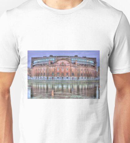 The pink landmark Unisex T-Shirt