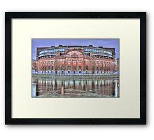 The pink landmark Framed Print