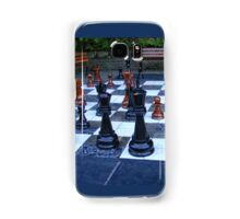 GIANT OUTDOOR CHESS BOARD GAME Samsung Galaxy Case/Skin