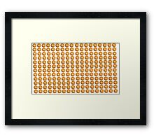 bagel Framed Print