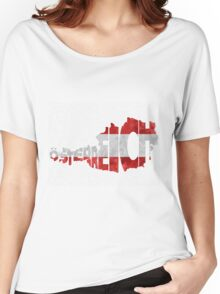 Austria Typographic Map Flag Women's Relaxed Fit T-Shirt