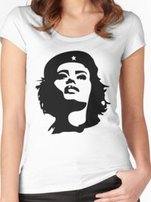 Girls to the front! Women's Fitted Scoop T-Shirt