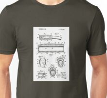 Schwinn Bicycle Vintage Retro Handlebar Grip Patent Drawing Design Unisex T-Shirt