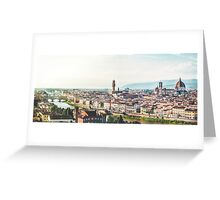 Florence city - Italy Greeting Card