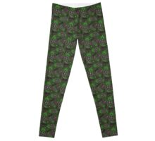 Weed Paisley {Forest} Leggings