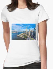 Hong Kong modern scene Womens Fitted T-Shirt