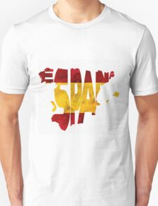 Spain Typographic Map Flag T-Shirt