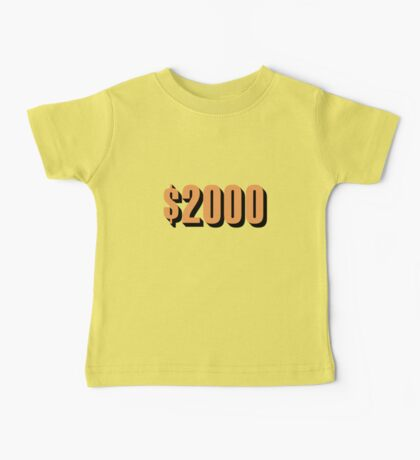 Game Value $2000 Baby Tee