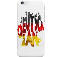 Germany Typographic Map Flag iPhone Case/Skin
