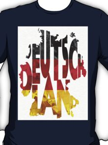 Germany Typographic Map Flag T-Shirt