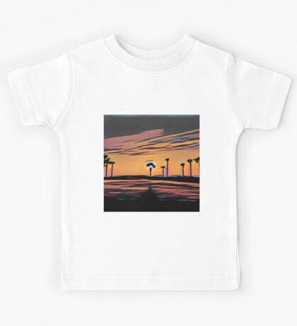 Florida, dawn, nature,abstract,painted,contemporary art Kids Tee