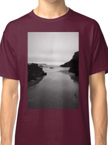 Kynance Cove in Black and White Classic T-Shirt