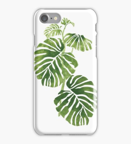 Rainforest philodendron  iPhone Case/Skin