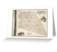 Vintage Map of Marthas Vineyard (1873) Greeting Card