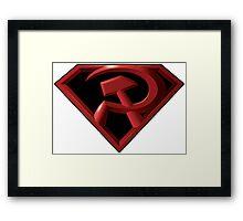 Superman - Red Son Logo Framed Print