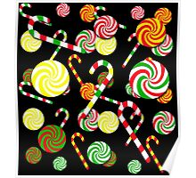 Xmas candy pattern Poster