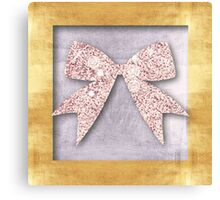 Christmas,gold,silver,glitter pink, ribbon,x-mas,modern,rustic,girly, Canvas Print