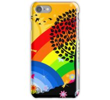 Birds over wood iPhone Case/Skin