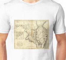 Vintage Map of Maryland (1796)  Unisex T-Shirt