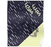 Dark Neon Rain Pattern // Shirt // Dress // Poster Poster