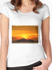 Sunset island Women's Fitted Scoop T-Shirt