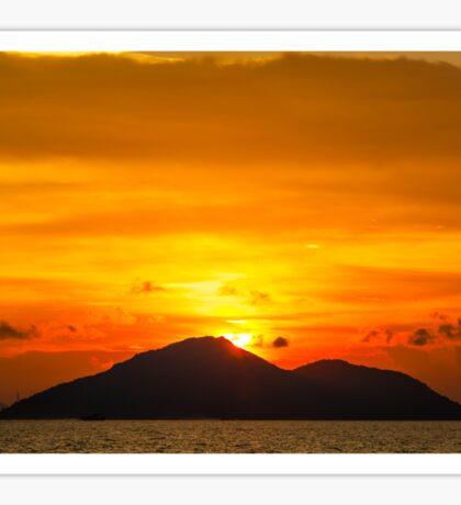 Sunset island Sticker