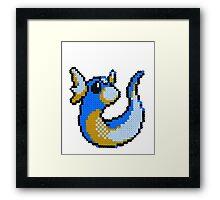 Dratini Pixel! Framed Print