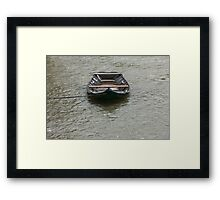 boat on the river Framed Print