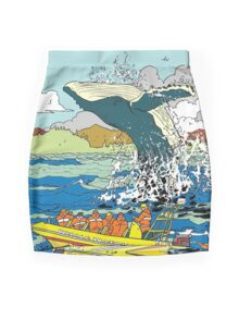 Jumping Whale Mini Skirt