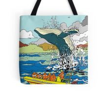 Jumping Whale Tote Bag