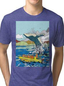Jumping Whale Tri-blend T-Shirt